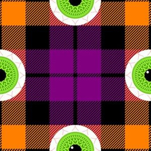 tartan - seasonal - halloween eyeballs