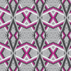 Arabian Canopy Silver Grey Pink