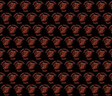 clemson_tiger_esso- fabric by hillarywhite on Spoonflower - custom fabric