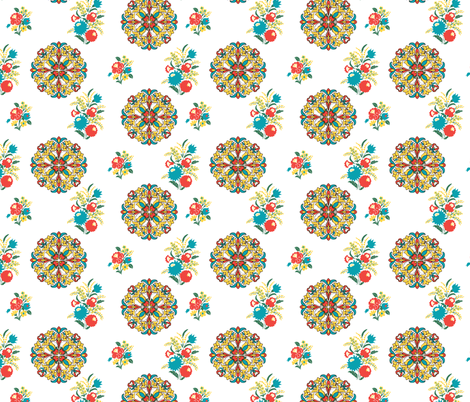 HungarianFloralC2012 fabric by nikky on Spoonflower - custom fabric