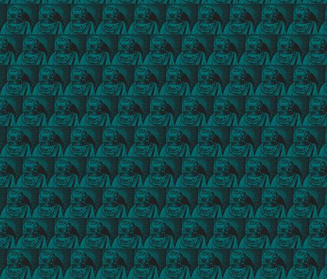 deep_sea_diver-aquamarine fabric by hillarywhite on Spoonflower - custom fabric