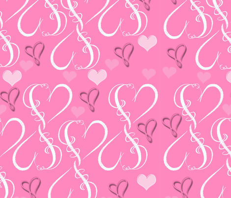 Hearts fabric by dancingwithfabric on Spoonflower - custom fabric