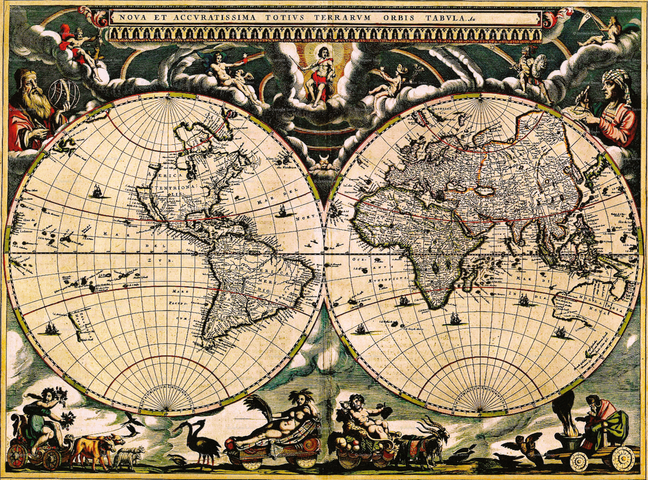 Vintage world map 1 wallpaper whimzwhirled spoonflower gumiabroncs Gallery