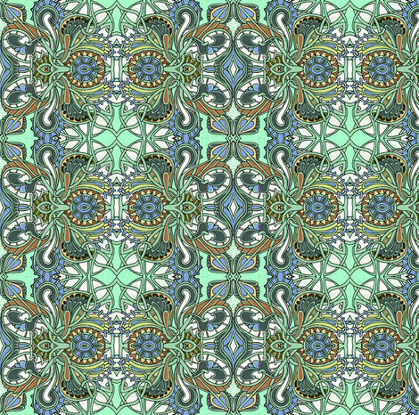 Muted Stained Glass Experience fabric by edsel2084 on Spoonflower - custom fabric