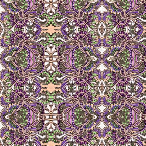 Tangled Zig Zag Paisley and Vines fabric by edsel2084 on Spoonflower - custom fabric