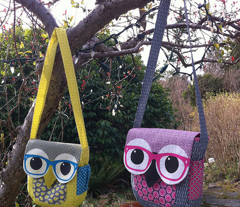 Geeky Owl Bag - PINK - LINEN-COTTON 54""