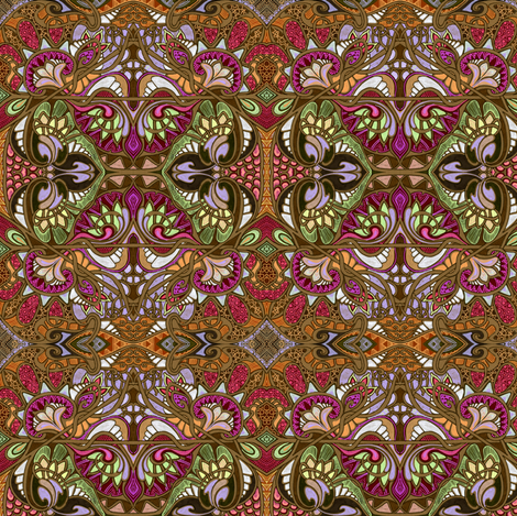 When the Chocolate Fairy Brings My Hot Coco fabric by edsel2084 on Spoonflower - custom fabric
