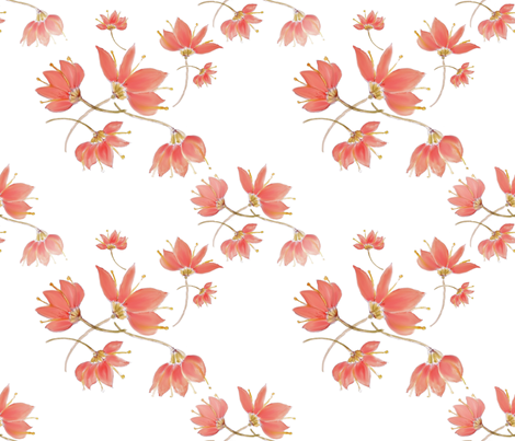 Flowerwatercolorfantasy fabric by alfabesi on Spoonflower - custom fabric