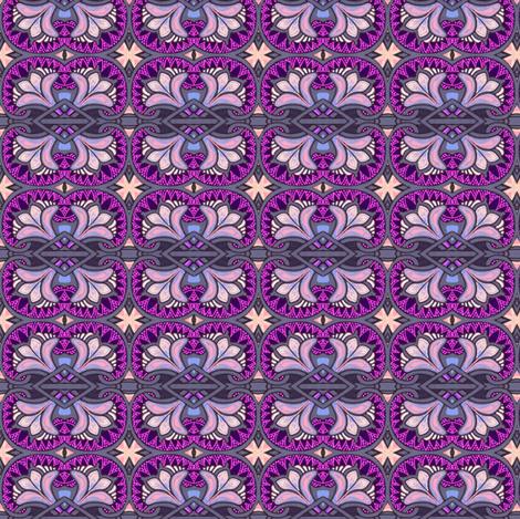 Medieval Crossed Flower fabric by edsel2084 on Spoonflower - custom fabric