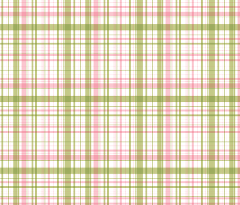 RIDE A BIKE COORDINATING CHECK IN OLIVE AND PINK fabric by me-udesign on Spoonflower - custom fabric