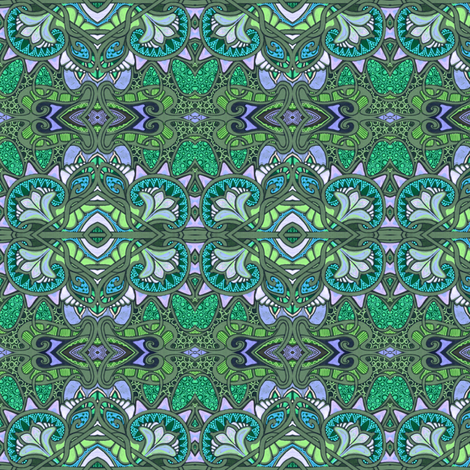 The Emerald Aisles fabric by edsel2084 on Spoonflower - custom fabric
