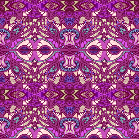 Raspberry Gypsy fabric by edsel2084 on Spoonflower - custom fabric