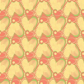 Yellow heart pattern