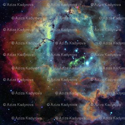 The rosette nebula edited fabric azizakadyri spoonflower for Nebula fabric by the yard