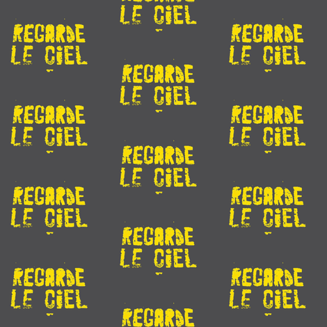 Look at the Sky - Regarde le Ciel, on the Cross Walk, quilter's version, Gray fabric by susaninparis on Spoonflower - custom fabric