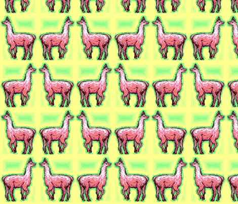 Habba_Zzabba_Llama fabric by vinkeli on Spoonflower - custom fabric
