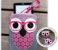 Geeky Owl Bag - TEAL - Linen-Cotton