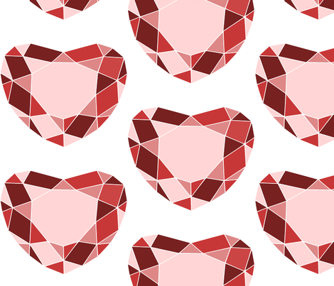 Red Gem fabric by loopy_canadian on Spoonflower - custom fabric