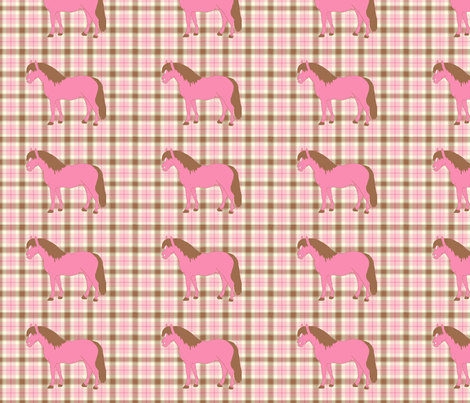 plaidpony fabric by ragan on Spoonflower - custom fabric