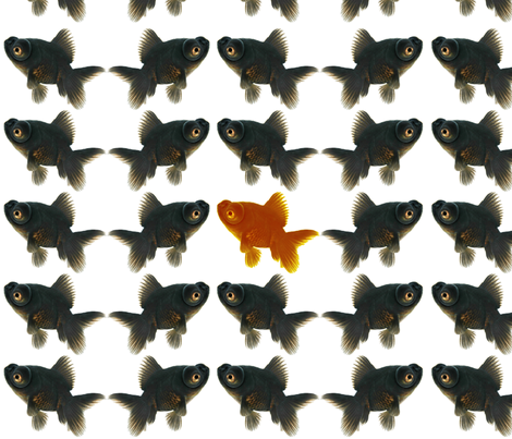 The Gold Fish of the Family fabric by mollycoddle on Spoonflower - custom fabric