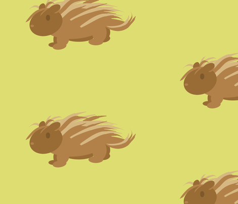 porcupine fabric by audettesa on Spoonflower - custom fabric