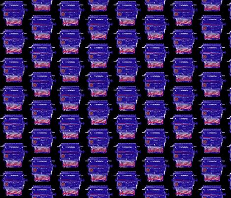 Continental Typewriter fabric by romi_vega on Spoonflower - custom fabric