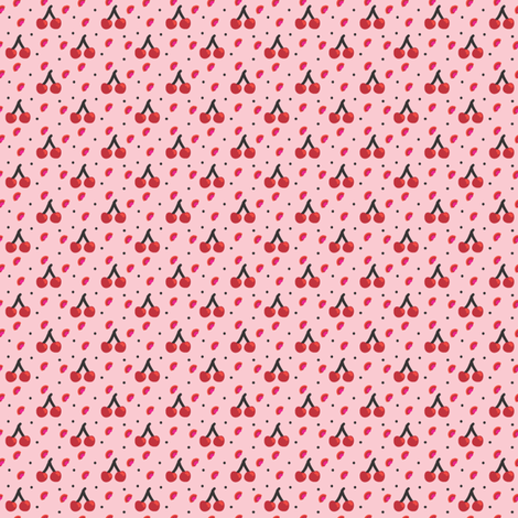 mini cherries fabric by nekanen_designs on Spoonflower - custom fabric