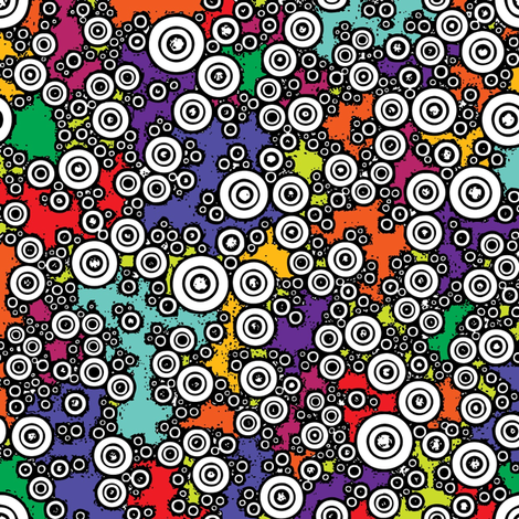 Technicolor Buttons fabric by romi_vega on Spoonflower - custom fabric