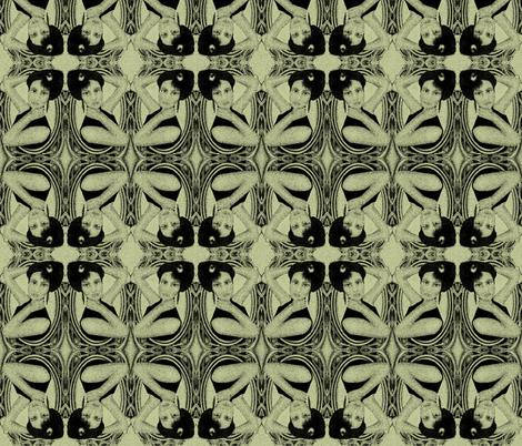 victorian in green fabric by kociara on Spoonflower - custom fabric