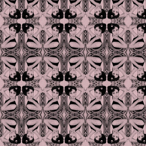 victorian damask in mauve