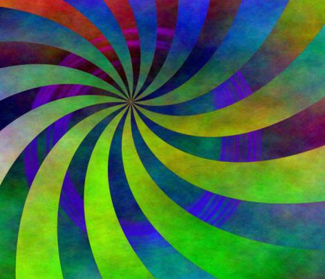 whirl circle fabric by feebeedee on Spoonflower - custom fabric