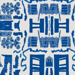 Greek Doors Blue