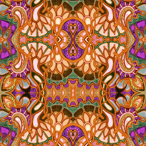 Feed Your Head the Orange Mushroom Said fabric by edsel2084 on Spoonflower - custom fabric