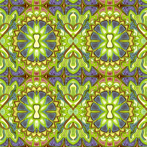Screaming Lime Acid Trip fabric by edsel2084 on Spoonflower - custom fabric
