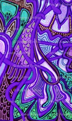 Psychedelic Purple Retro Gypsy Stripe