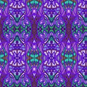 Psychedelic Purple Retro Gypsy Stripe