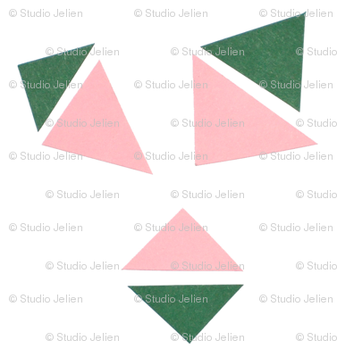 triangle pink evergreen