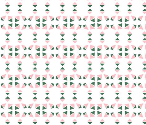 triangle pink evergreen fabric by studiojelien on Spoonflower - custom fabric