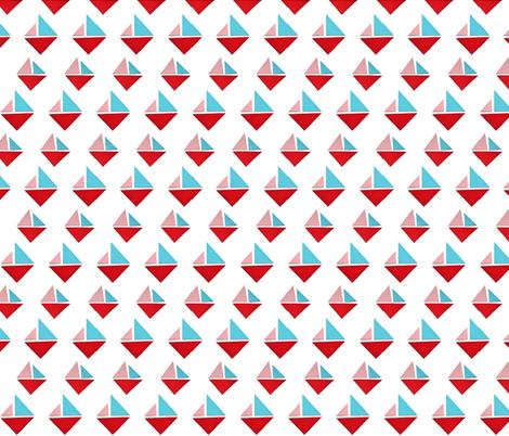 triangle boats fabric by studiojelien on Spoonflower - custom fabric
