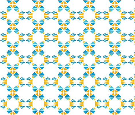 triangle yellowblue fabric by studiojelien on Spoonflower - custom fabric