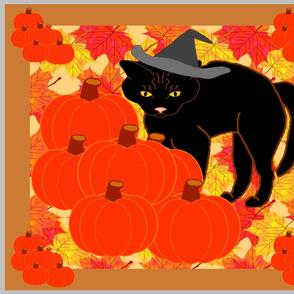 AutumnLeavesOldBlackCat