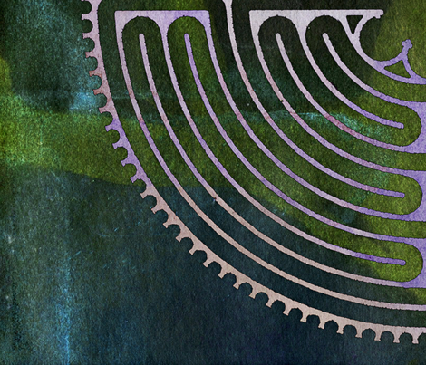 labyrinth fabric by feebeedee on Spoonflower - custom fabric