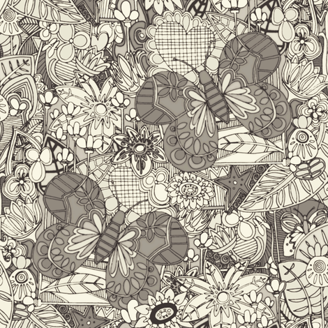 vintage butterflies fabric by scrummy on Spoonflower - custom fabric