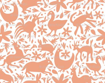Mexico Springtime: Peach on White (Large Scale)