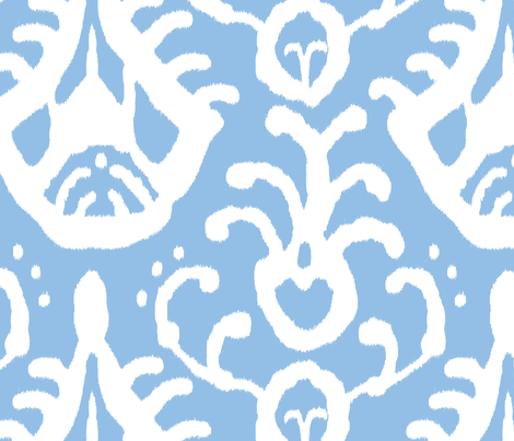 Baby Blue Ikat fabric by domesticate on Spoonflower - custom fabric