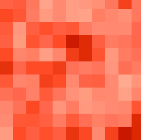 pixel tangerine fabric by paragonstudios on Spoonflower - custom fabric