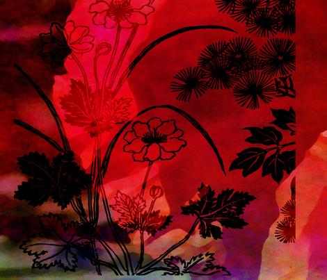 poppy fabric by feebeedee on Spoonflower - custom fabric