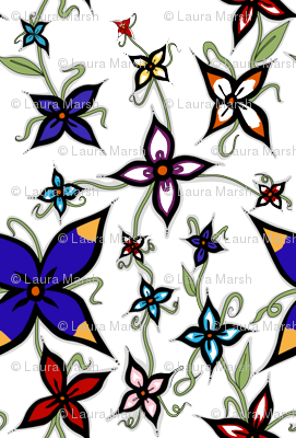 Flowers Down The Vine