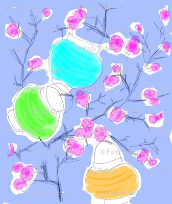 Cherry Blossoms & Paper Lanterns! (sketch multi)