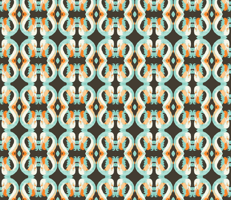 flaming-tangerine and taffy fabric by hillarywhite on Spoonflower - custom fabric